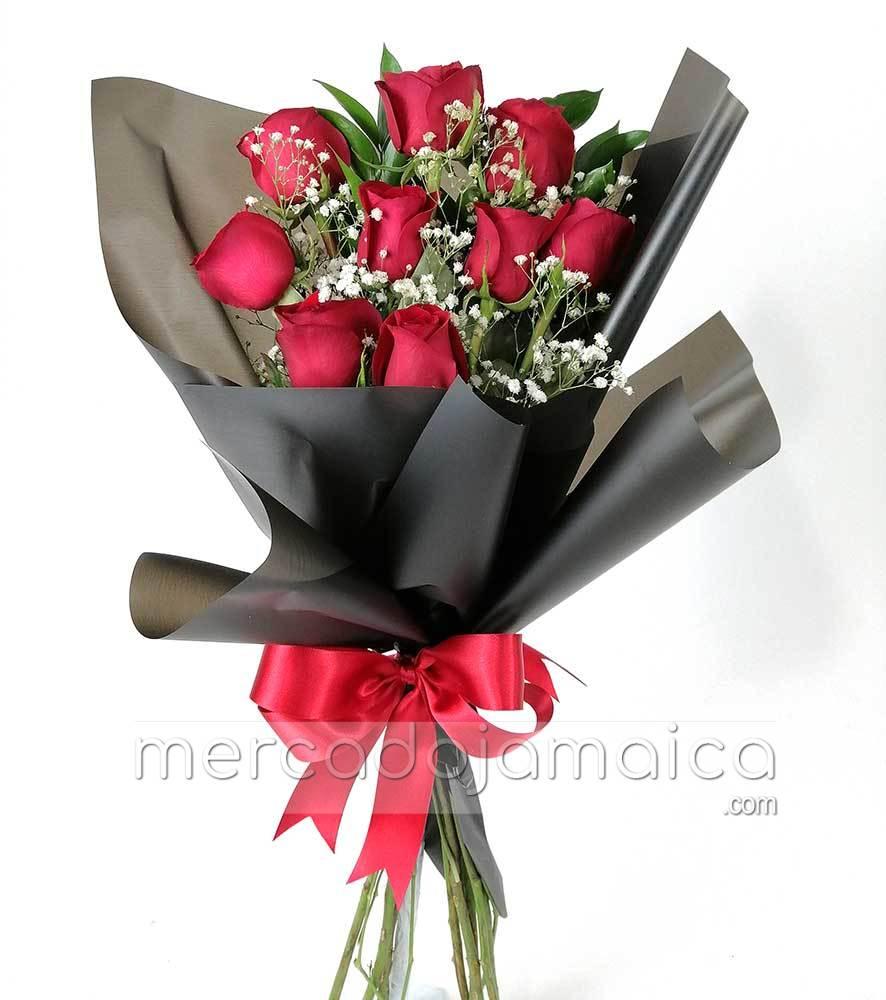 Ramo 9 Rosas Rojas