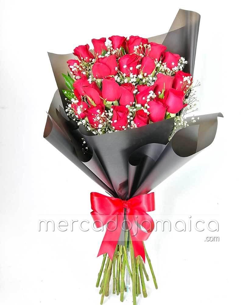 24 Rosas Rojas Ramo Candy