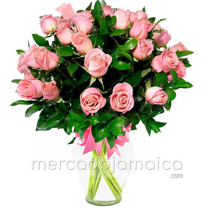 Arreglo Floral con 30 Rosas Rosa