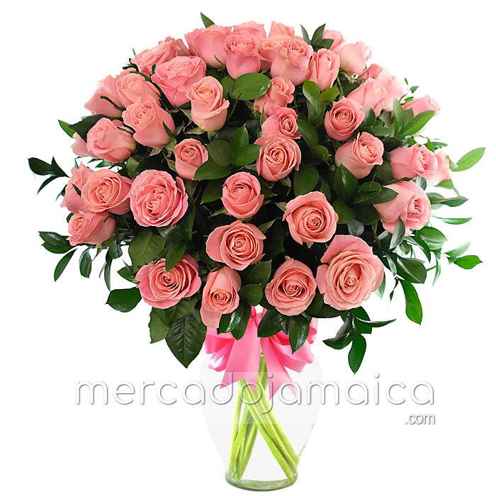 Arreglos con 60 Rosas Rosa